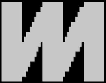 A pixellated Mixmax logo