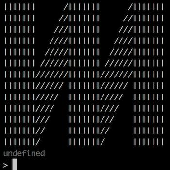 An ASCII art Mixmax logo