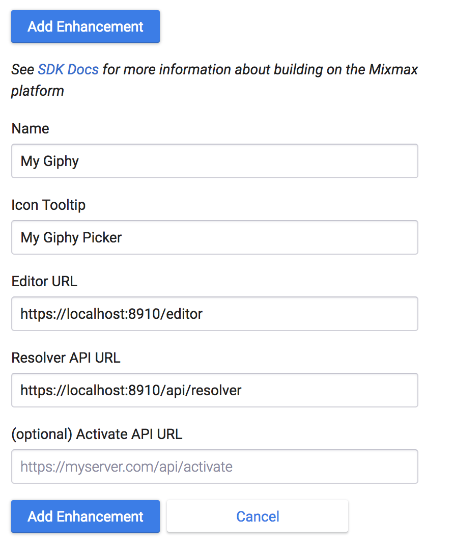 Building Your First Enhancement using the SDK