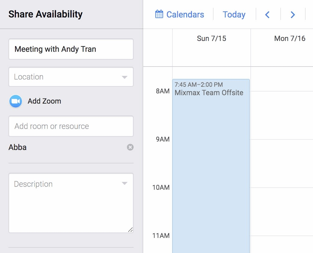 Add Zoom meetings and rooms to your calendar