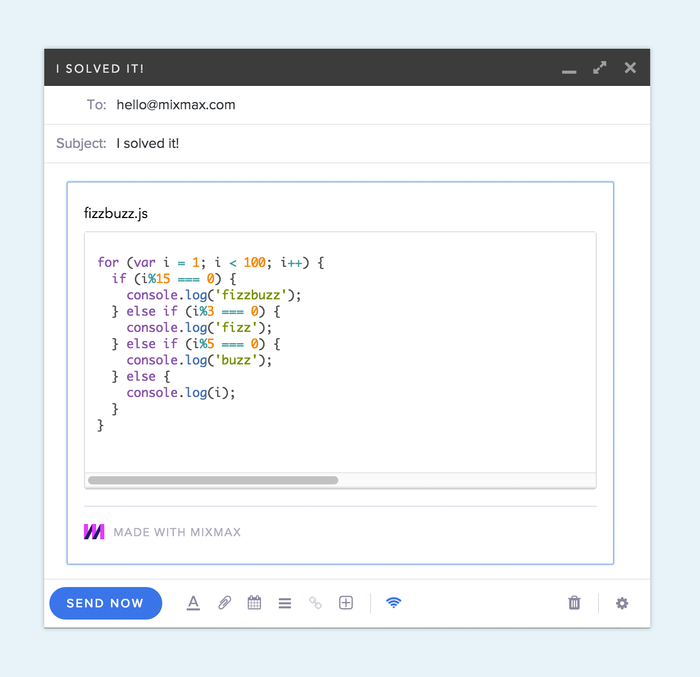 Code snippet with syntax highlighting