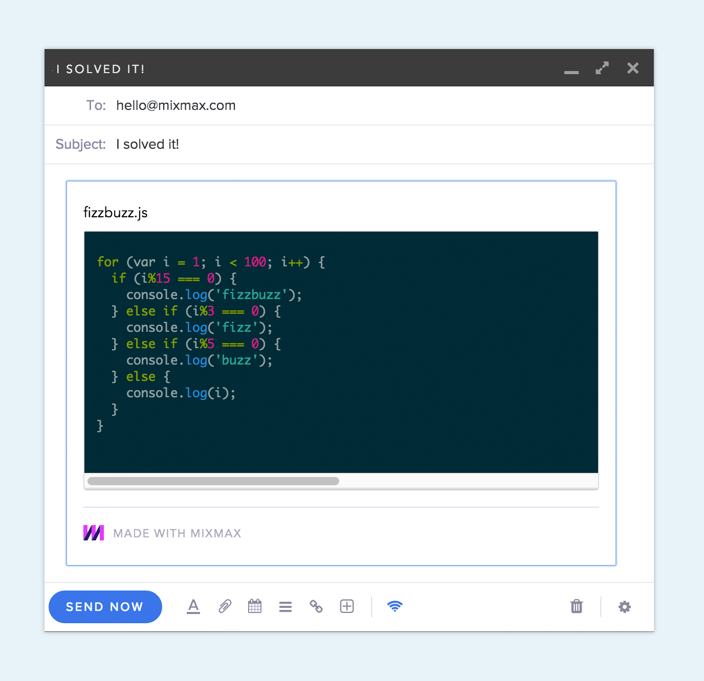 Another code snippet with dark mode