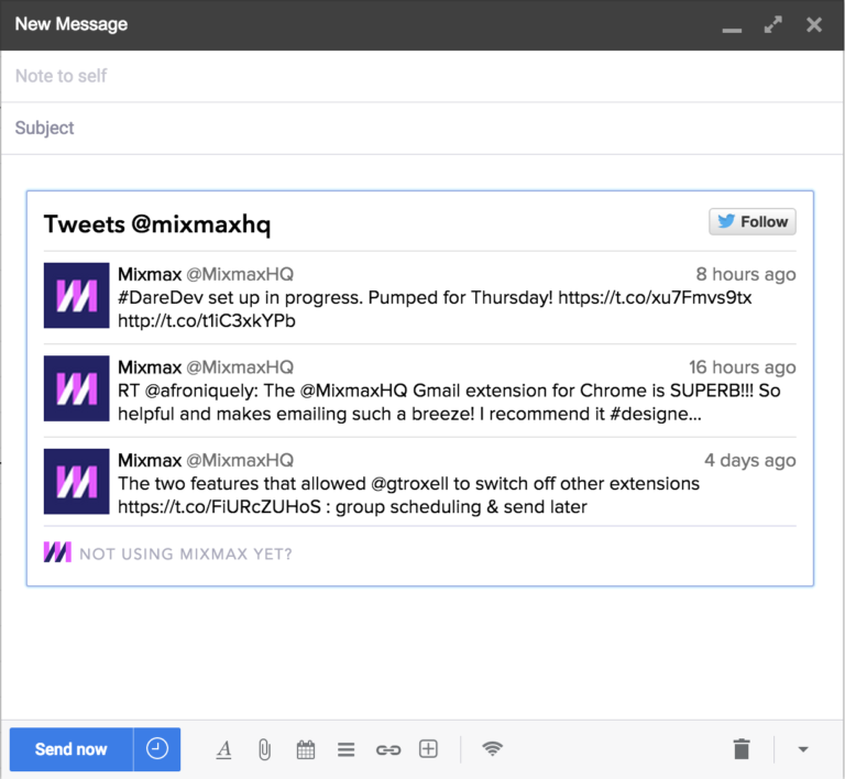 Embed Twitter in Gmail