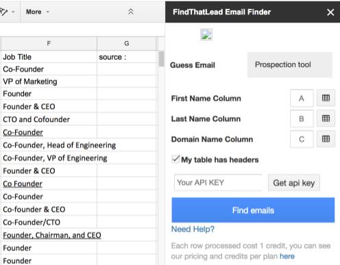 FindThatLead Add-on