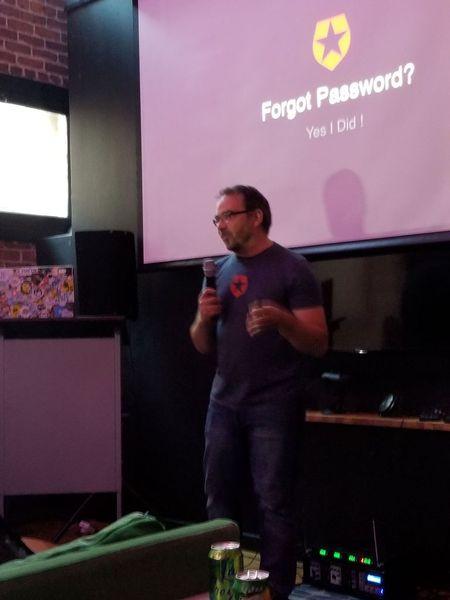 Joel Lord presenting