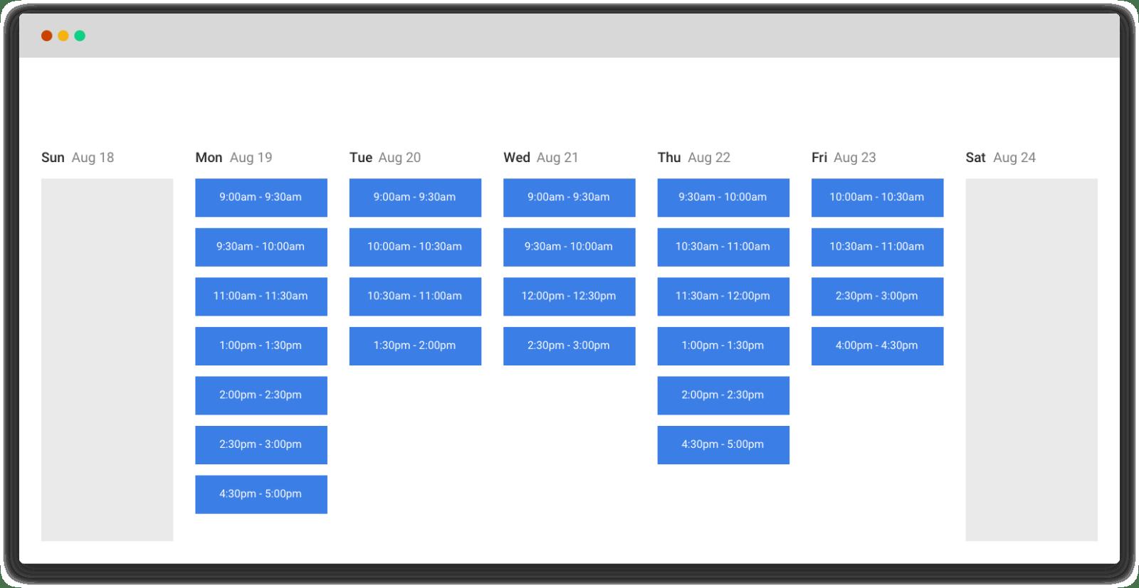 Mixmax Calendar