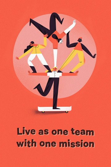Live as one team with one mission