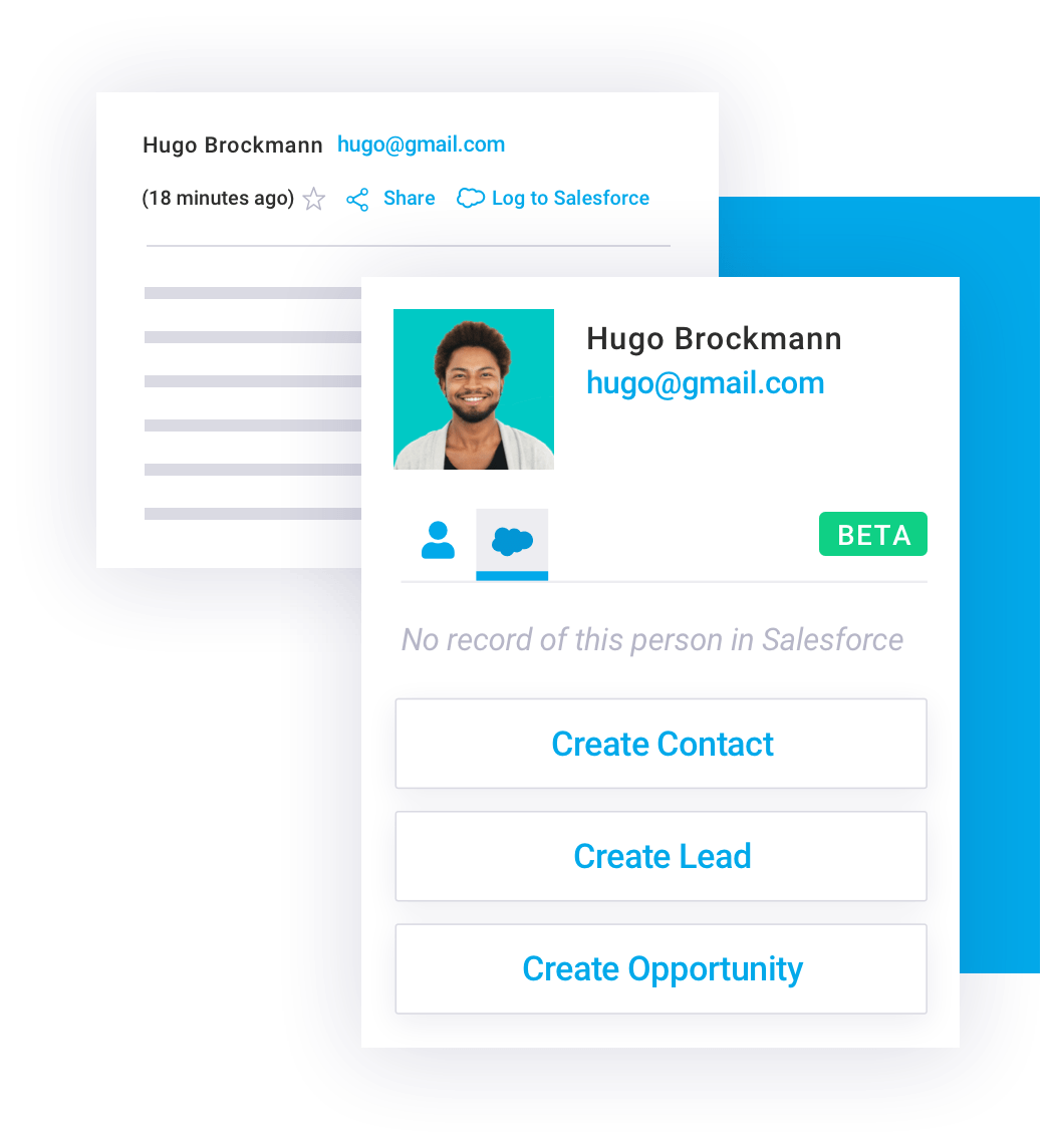 Add new Salesforce leads from Gmail