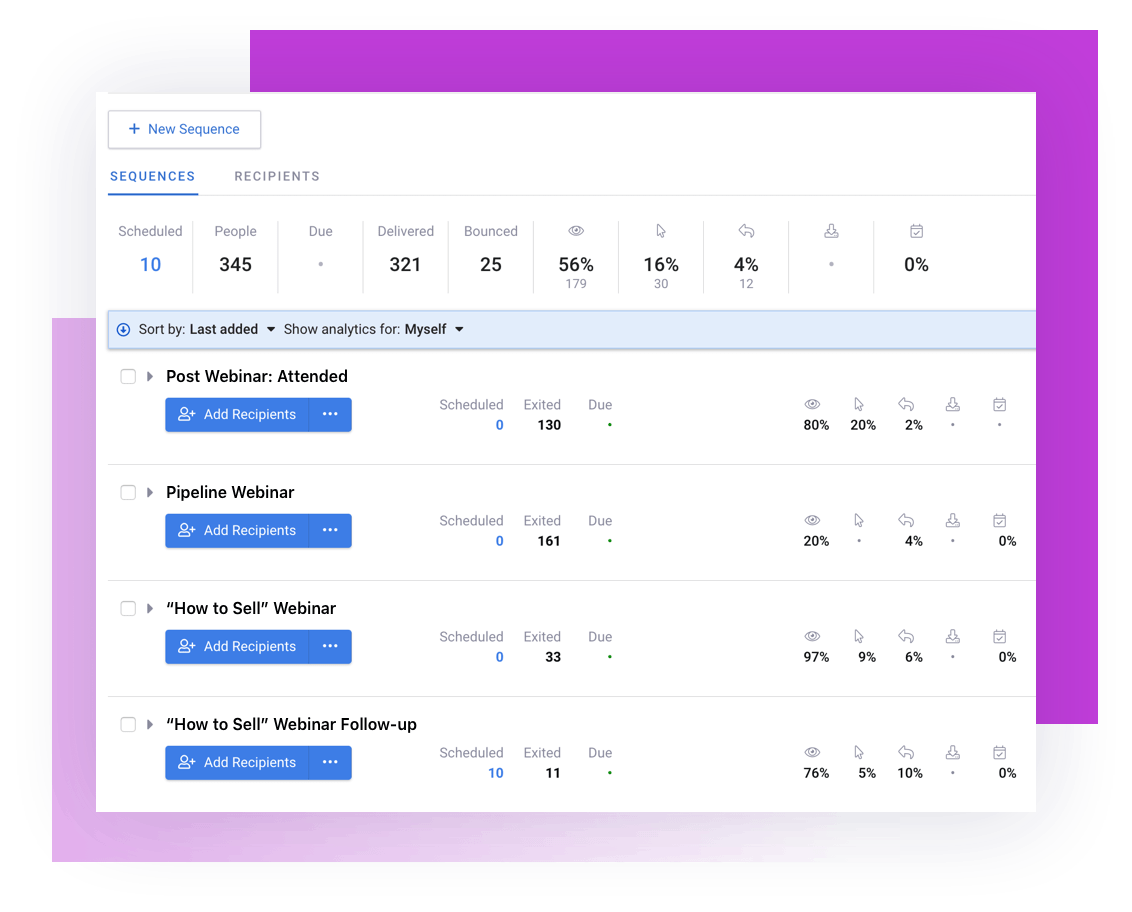 Land more replies and meetings with Email Sequences