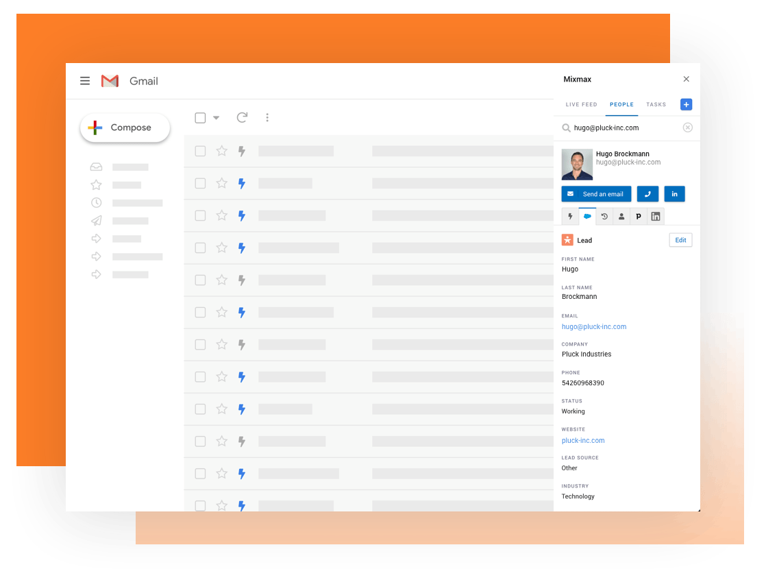 Personalization made easy with Mixmax Sidebar