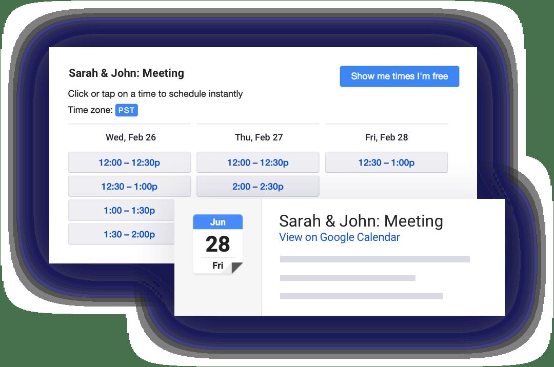 Land more meetings across the team