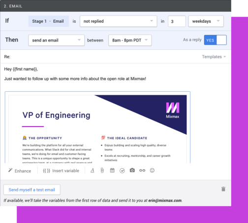 Add Dropbox files to email campaigns